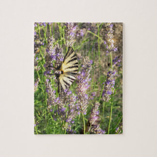 Butterfly and Lavender Jigsaw Puzzle