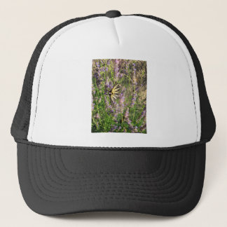 Butterfly and Lavender Trucker Hat
