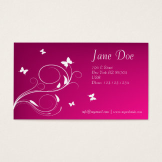Butterfly and Purple Business Card