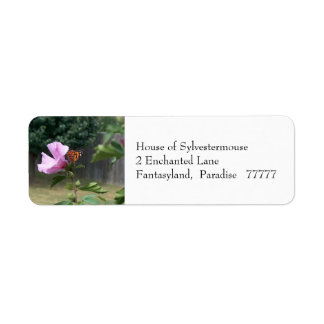 Butterfly and Rose of Sharon Address Labels