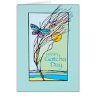 Butterfly and Sun Gotcha Day, Adoption, Teal Card