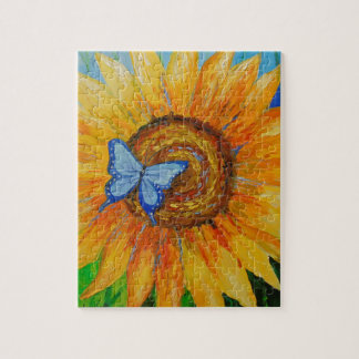 Butterfly and sunflower jigsaw puzzle