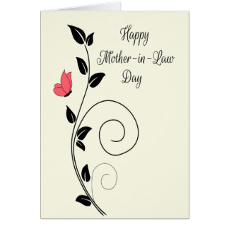 Butterfly and Swirls for Happy Mother-in-Law Day Card