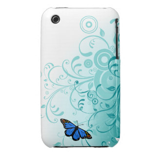 Butterfly and Swirls iPhone 3 Case