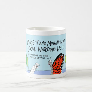 Butterfly and the maggot coffee mug