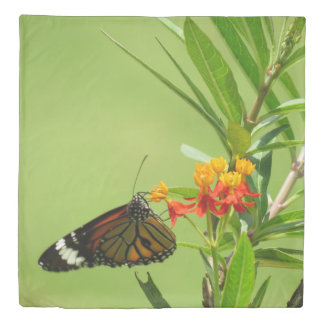 Butterfly and Wildflowers Duvet Cover