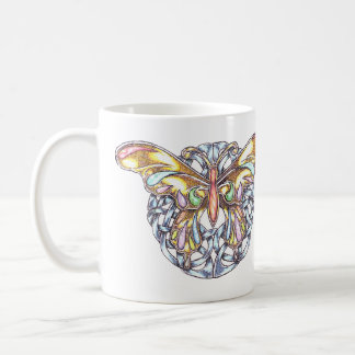 Butterfly and Wreath Tattoo-style Mug