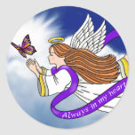 Butterfly Angel Round Stickers