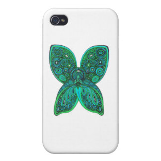 Butterfly Angel with Blue Green Wings Case For iPhone 4