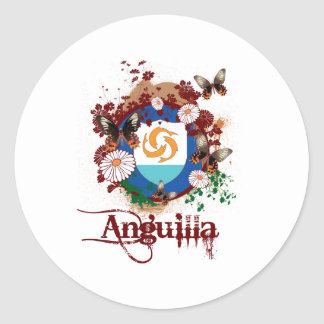 Butterfly Anguilla Classic Round Sticker