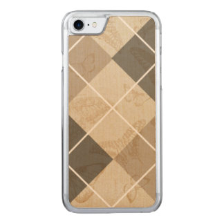 Butterfly Argyle Carved iPhone 7 Case