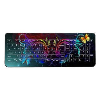 Butterfly Art 38A Wireless Keyboard