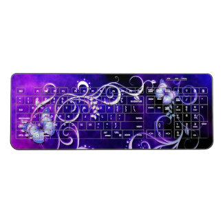 Butterfly Art 3 Options Wireless Keyboard