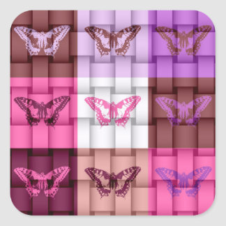 Butterfly Art 3 Square Sticker