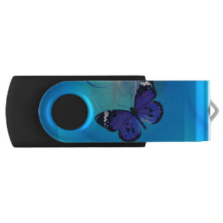 Butterfly Art Customizable USB Swivel Flash Drive Swivel USB 2.0 Flash Drive