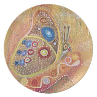 Butterfly Art Painting Melamine Plate