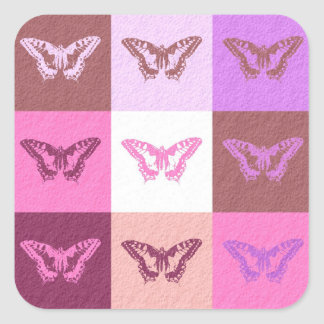 Butterfly Art Square Sticker
