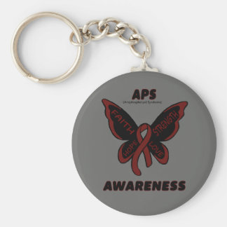 Butterfly/Awareness...APS Keychain