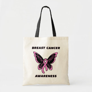 Butterfly/Awareness...Breast Cancer Tote Bag