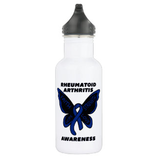 Butterfly/Awareness...Rheumatoid Arthritis 532 Ml Water Bottle