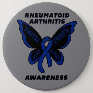 Butterfly/Awareness...Rheumatoid Arthritis 6 Inch Round Button