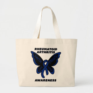 Butterfly/Awareness...Rheumatoid Arthritis Large Tote Bag