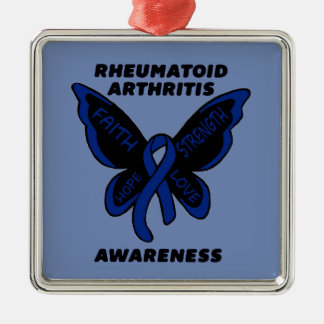 Butterfly/Awareness...Rheumatoid Arthritis Metal Ornament