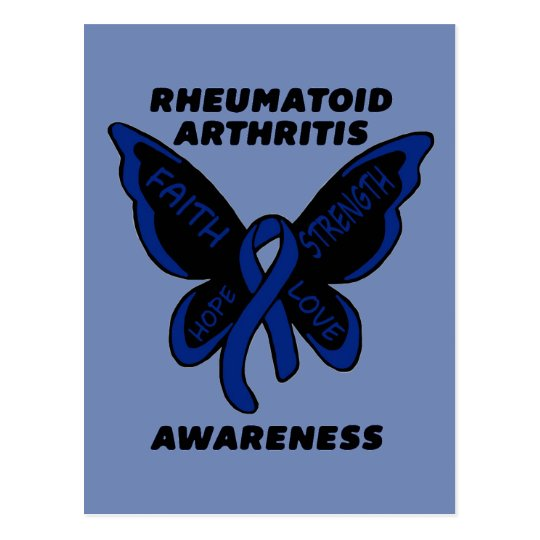 Butterfly/Awareness...Rheumatoid Arthritis Postcard