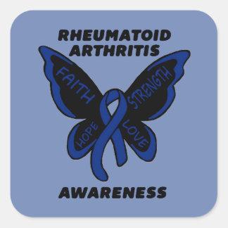 Butterfly/Awareness...Rheumatoid Arthritis Square Sticker