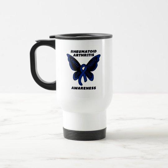 Butterfly/Awareness...Rheumatoid Arthritis Travel Mug
