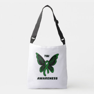 Butterfly/Awareness...TBI Crossbody Bag