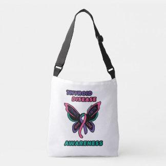 Butterfly/Awareness...Thyroid Disease Crossbody Bag
