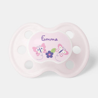 Butterfly Baby Girl Personalized Pacifier