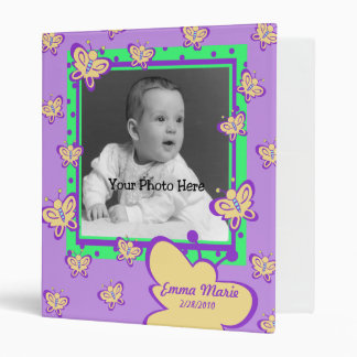 Butterfly Baby Photo 3 Ring Binder