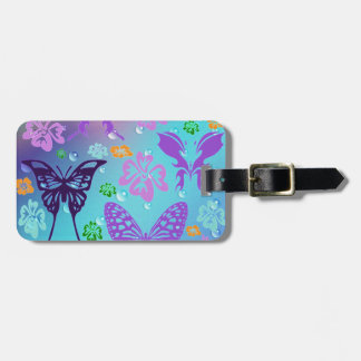 Butterfly Background Luggage Tag