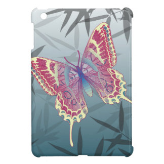Butterfly Bamboo leaves Blue Unique Pattern Cover For The iPad Mini