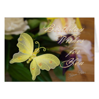 Butterfly Bday Wishes Greeting Card