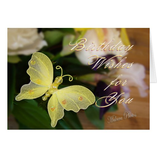 Butterfly Bday Wishes Greeting Cards