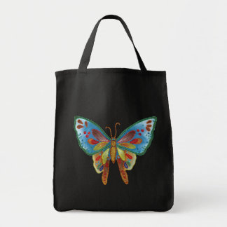 Butterfly bead print bag