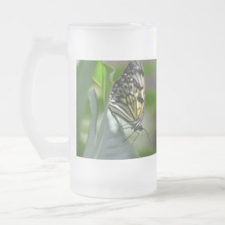 Butterfly Beauty Frosted Glass Beer Mug