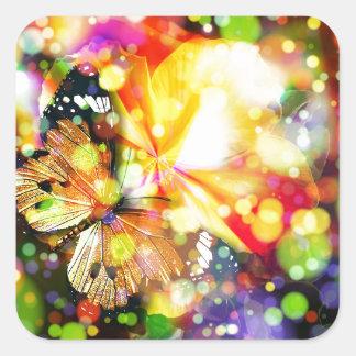 Butterfly Beauty Square Sticker