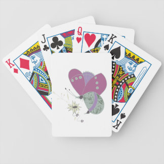 butterfly bicycle playing cards