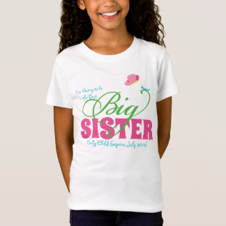 Butterfly Big Sister Personalized Girls' Tee Shirt