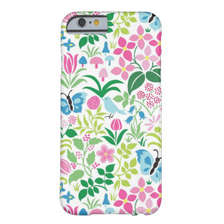 Butterfly, Bird, Flower Bright Pattern Barely There iPhone 6 Case