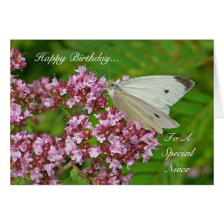 Butterfly Birthday Card for a Special Niece