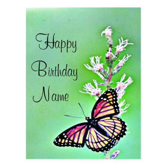 Butterfly Birthday Invitation Postcard