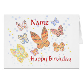 Butterfly Birthday named Card