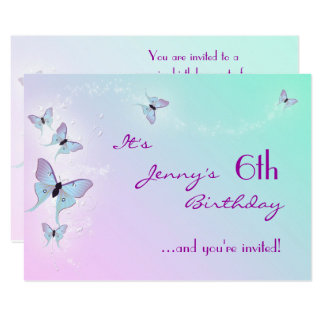 Butterfly Birthday RSVP Card