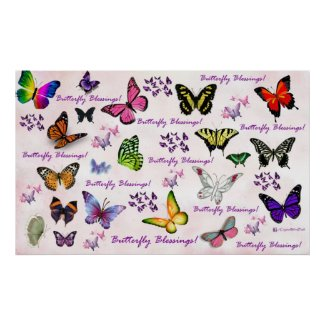 Butterfly Blessings Poster