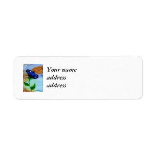 Butterfly Bloom Return Address Label
